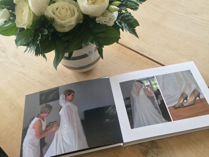 Bryllupsbog med minder fra den store dag